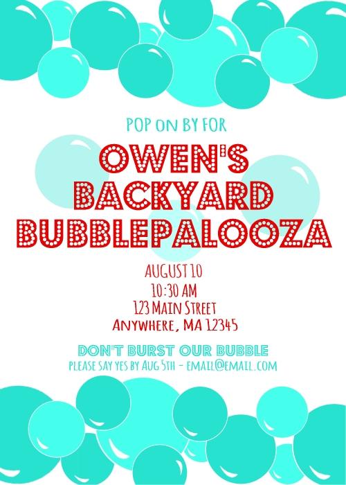 Generic Bubble Invite